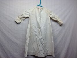 Vintage Off White Linen Button Up Baby Dress  image 7