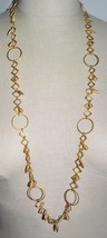 VTG DARCY LEE NEW YORK Matte Gold Tone Geometric Abstract Necklace - $74.25