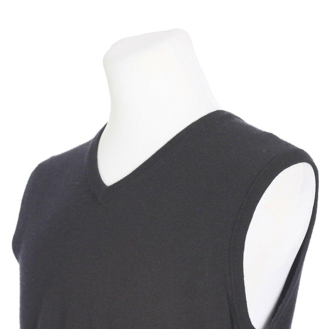 Brooks Brothers Extra Fine Merino Wool Solid Black Sweater Vest Mens Medium image 2