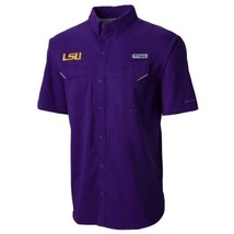 Columbia LSU Tigers Low Drag Offshore Performance Button Down Shirt Mens XL NWT - $39.94