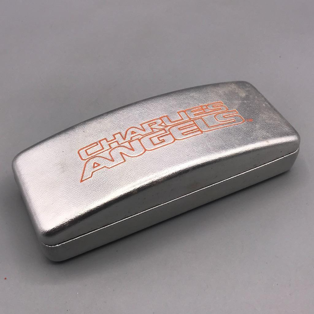 Charlie's Angels Silver and Red Sunglasses Eyeglasses Glasses Hard Case