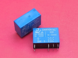 SMI-S-224L, 24VDC Relay, SANYOU Brand New!! - $6.12