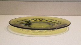 Olive Green Depression Glass Plate Kings Crown Indiana Glass USA - $9.85