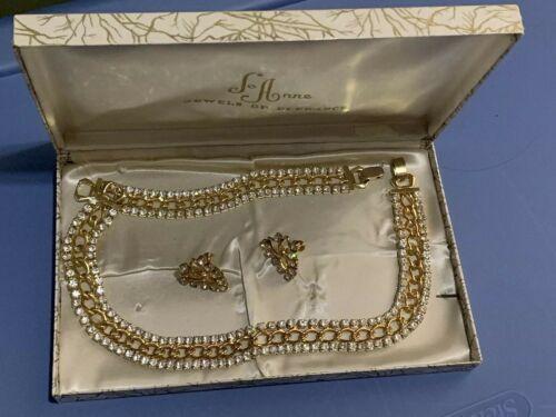 Vintage JoAnne Jewels Of Elegance Necklace Bracelet Earrings 3 Piece Set Jo Anne - $60.00