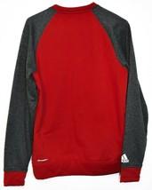 adidas Climawarm Indiana University Hoosiers Red & Gray Crew Sweatshirt Size S image 2