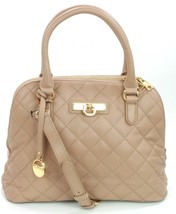 DKNY Donna Karan Quilted Leather Handbag Taupe Beige RRP £300 - $189.92