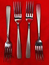 Oneida Deluxe Dinner Forks 155655 593 Stainless Frosted Diamond Flatware... - $73.26