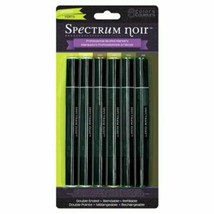 Spectrum Noir Professional Alcohol Markers in Greens - 6 Markers