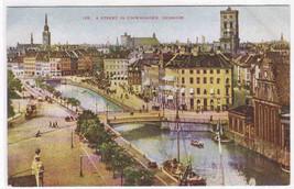 Panorama Street Copenhagen Denmark 1910c postcard - $6.44