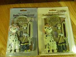2 Vtg Spoontiques Dalmatian Firehouse Light Switch Plate Covers Firefighter - $19.95