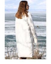 Women's Luxury Winter Fashion Solid Duck Down Thick Lapel Duck Down Long Coat image 4