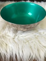 "Reed & Barton Silverplate 8"" Paul Revere Bowl Green Enamel Interior #104 - $29.70"