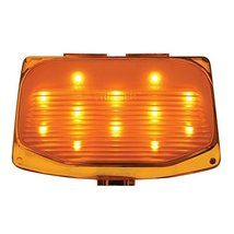 12 LED Harley Front Fender Tip Light - Amber LED/Amber Lens - $25.35
