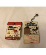 Vintage Butterfly snoopy telephone pad and Mini  pocket memo - $24.75