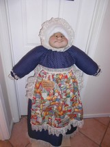 Vacuum Cover Soft Sculpture Grandma - Navy Dress - Country Store Groceries Apron - $85.00
