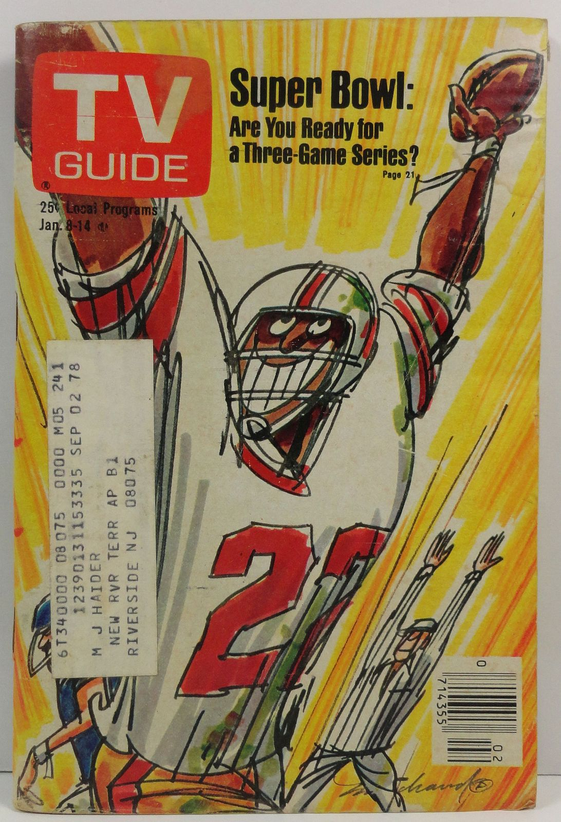 Primary image for TV Guide Magazine January 8, 1977 Superbowl Cover