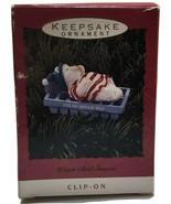 1993 Hallmark Christmas Keepsake Ornament Water Bed Snooze  - $7.92