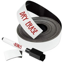 Dry Erase Magnetic Strips - 1 Inch x 25 Feet Magnetic Tape Roll - Blank ... - $15.62