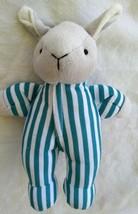Goodnight Moon Baby Bunny Rabbit Rattle Lovey Blue Striped Sleepyhead Pa... - $35.63