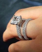 Certified 2.60Ct Cushion Cut Diamond Engagement Wedding Ring Set 14K Whi... - $316.60