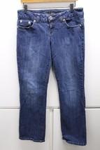W13283 Womens GUESS JEANS Blue Stretch Denim Malibu BOOT CUT JEANS 31/12 - $38.60