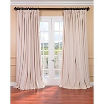 Beige Velvet Curtain Long Panel Photography Studio Background Drapes - $284.96