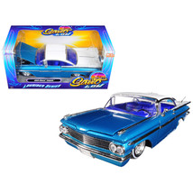 1959 Chevrolet Impala Blue Lowrider Series Street Low 1/24 Diecast Model Car by  - $32.11