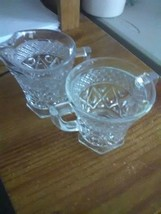 Imperial Cape Cod Clear Creamer and Sugar - $4.55