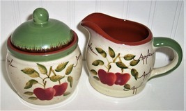 Home Interiors Apple Orchard Collection Sugar And Creamer Kj061416 - $19.79