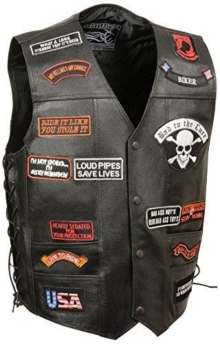 Event Leather Men's 23 Patches Vest