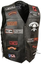 Event Leather Men's 23 Patches Vest image 1
