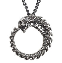 Alchoboros Pendant Skull Spine Omega Ouroboros Oneness Alchemy Gothic P854 NWT - $19.95