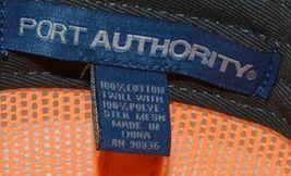 Port Authority C112 Snapback Trucker Cap Grey Steel Neon Orange image 7