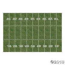 Fun Express Plastic Football Field Backdrop Banner, 9 x 6'  - $24.24