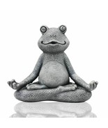 Yoga Frog Miniature Statue Garden Meditation Zen Figurine Home Yard Deco... - $28.96