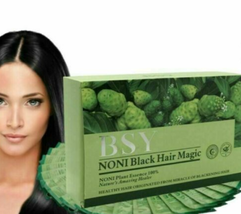 BSY Noni Black Hair Magic Color Dye Shampoo 100% Herbal Essence 2 Box - 40 pack  - $64.89