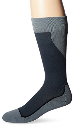 JOBST Sport Knee High 15-20 mmHg Compression Socks, Black/Grey, Large