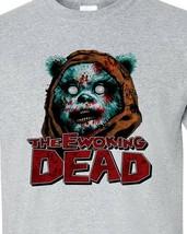 Ewoking Dead T-shirt The Walking Dead Star Wars Jedi gray blend graphic tee image 1