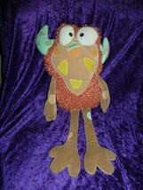 "MANHATTAN TOY Eanie Meanie orange cute monster plush toy 2005 12"" - $14.84"