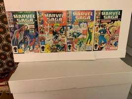 MARVEL SAGA (MARVEL COMICS) 1985-1987 VF 15 BOOK LOT WITH FREE SHIPPING - $15.90