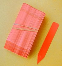 """200 Orange Plastic Plant Stakes Labels Nursery Tags Made in USA - 4"""" X 5/8"""" - $21.78"""