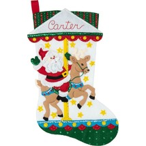 Bucilla - 'Carousel Santa' Felt Stocking Applique Embroidery Kit - 86934E - $24.99