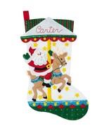 Bucilla - 'Carousel Santa' Felt Stocking Applique Embroidery Kit - 86934E - $24.99