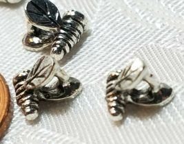 10 - Tiny Bumble Bee Fine Pewter Beads 6x6x6mm Hole 2mm image 5