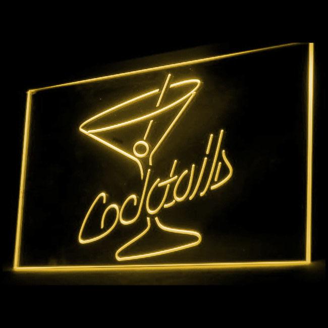 170028B Cocktails Rum Wine Sucrose Distilled Spirits Open Pub LED Light Sign