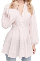 Free People Much Ado Tunic Small 2 4 Pink Wide Sleeves Fit + Flare Medie... - $73.30