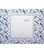 Envogue Kids Navy Vintage Airplanes on White Cotton Sheet Set Twin - $56.00
