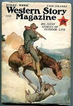 Western Story Magazine Pulp January 20 1923- Range Rider VG+ - $107.19