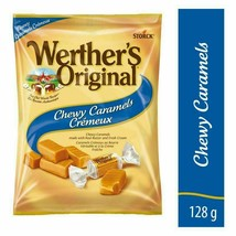 6 Werther's Original Chewy Caramels Candy 128g/4.5oz Each Canada FRESH DELICIOUS - $43.81