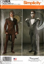 Simplicity S0256 Men's Steampunk and Day of The Dead Cosplay Costumes Se... - $9.95